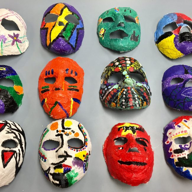 art project mask making