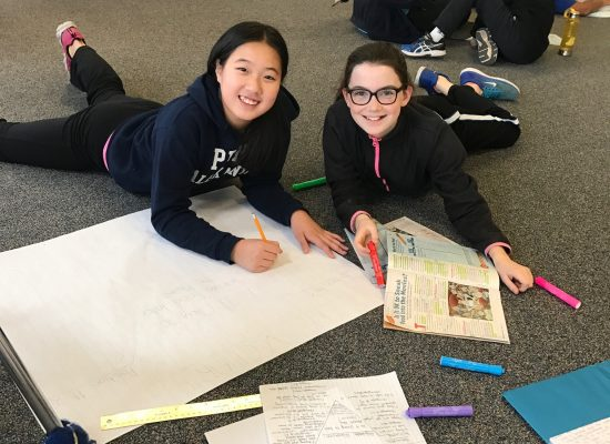 Middle School literacy activity with students