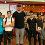 Visit from Chris Long from the Eagles
