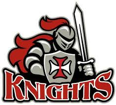 Knights logo sword with shield