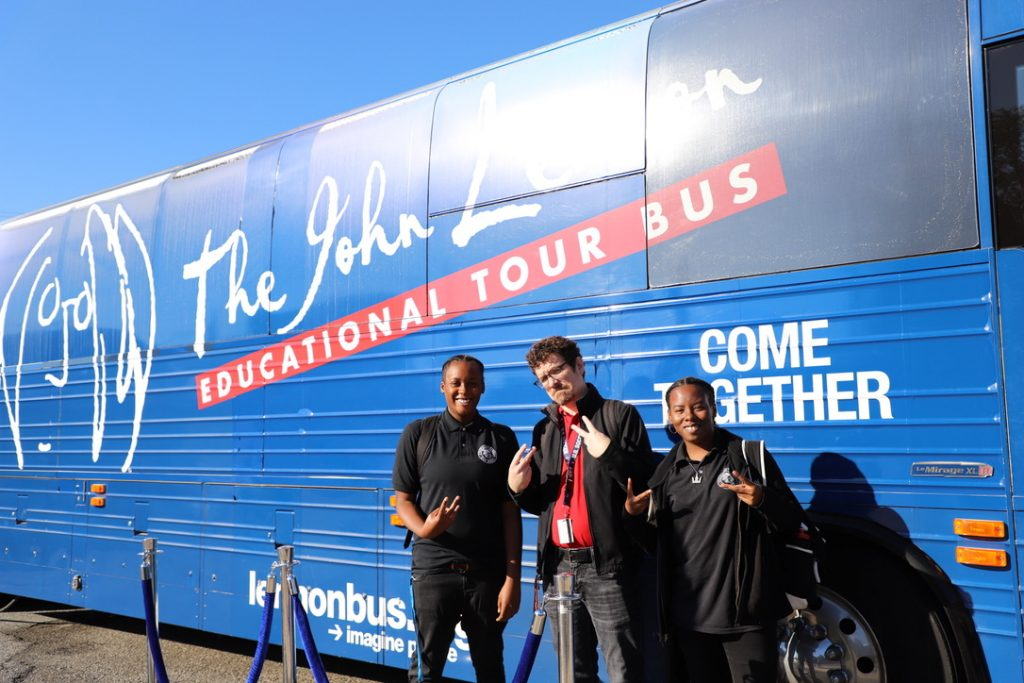Visit from the John Lennon Educational Tour Bus